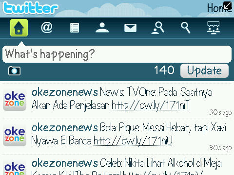 Home - Twitter For BlackBerry