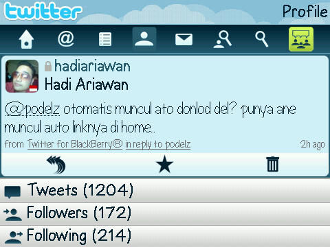 Profile - Twitter For BlackBerry