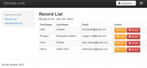 a simple CRUD web using nodejs (expressjs f/w, hbs templating) and mongodb