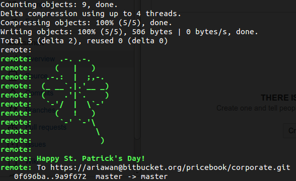 Bitbucket St Patrick's Day