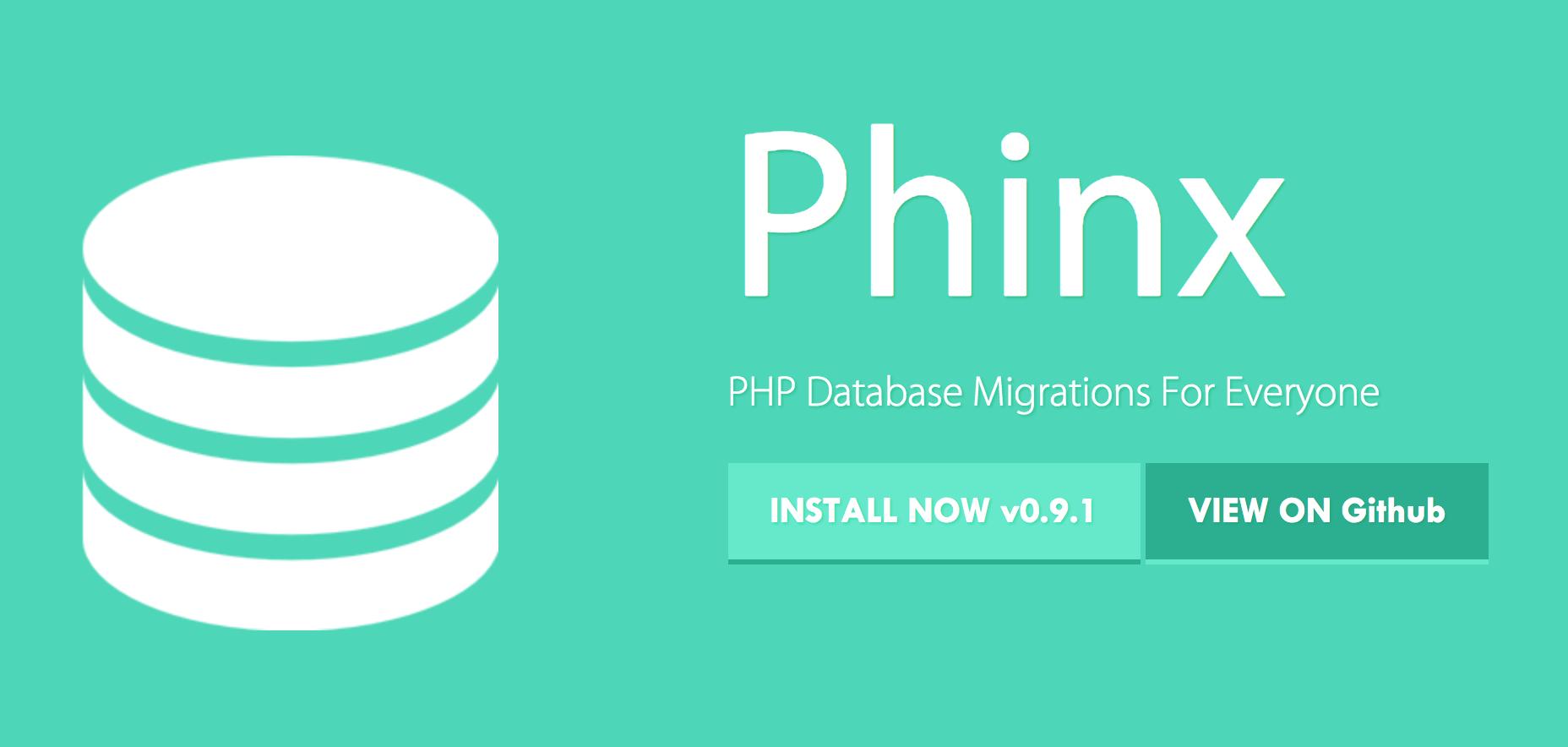 Schema Migration (DB migration) using Phinx